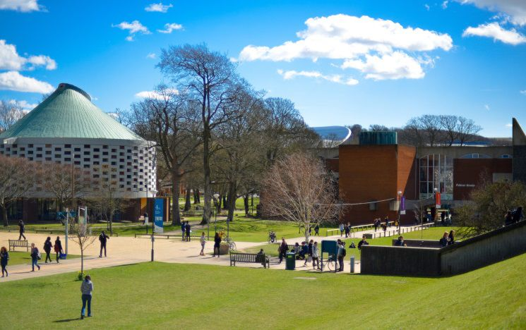 view of campus on a sunny day